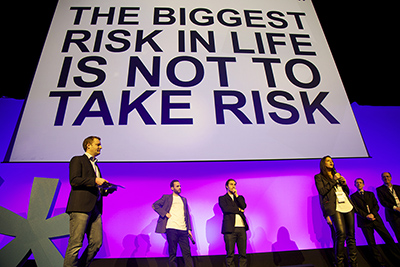 The biggest risk in life is not to take risk